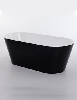 Royce Morgan Black Sapphire 1650 x 735mm Freestanding Bath - Black Finish