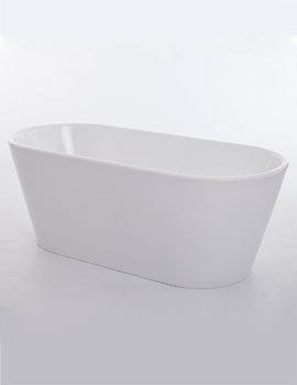 Royce Morgan Black Sapphire White Freestanding Bath 1650 x 735mm