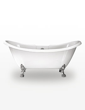 Royce Morgan Melrose 1740 x 700mm Freestanding Bath With Chrome Feet
