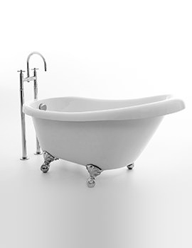 Royce Morgan Tampa 1500 x 750mm Single Ended Slipper Bath With Feet
