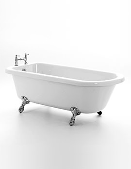 Royce Morgan Lambeth 1665 x 715mm Left Hand Corner Bath With Chrome Feet