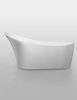 Royce Morgan Black Sunstone Freestanding Slipper Bath 1590 x 700mm