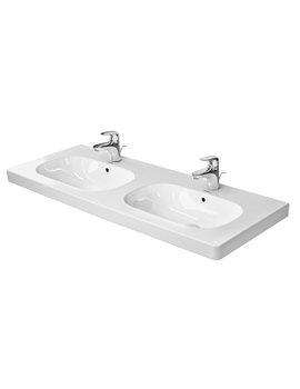 Duravit D-Code White 1 Tap Hole 1200 x 480mm Double Basin