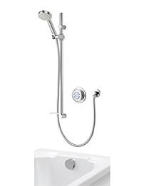 Aqualisa Quartz Concealed Digital Divert Shower With Bath Filler - HP Combi