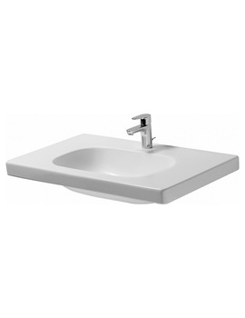 Duravit D-Code White 1 Tap Hole 850 x 480mm Furniture Basin Med