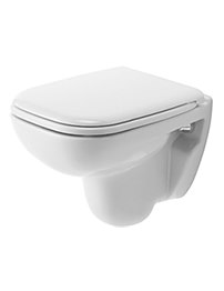 Duravit D-Code White 350 x 480mm Compact Wall Mounted Toilet