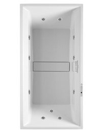 Duravit 2nd Floor 1800 x 800mm Built In Bath With Combi System L