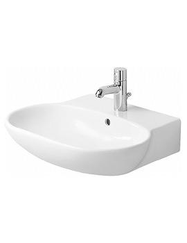 Duravit Bathroom Foster White 700 x 540mm 1 Tap Hole Basin