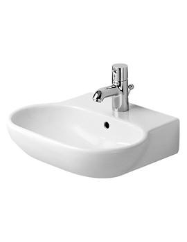 Duravit Bathroom Foster White 470 x 390mm 1 Tap Hole Handrinse Basin