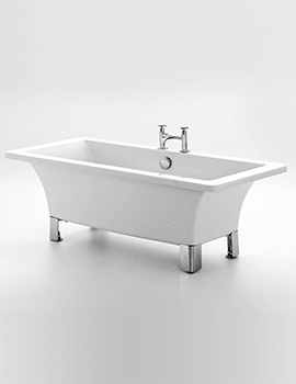 Royce Morgan Clarence 1600 x 745mm Freestanding Bath With Chrome Feet