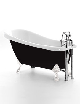 Royce Morgan Chatsworth Black 1530 x 710mm Traditional Freestanding Bath
