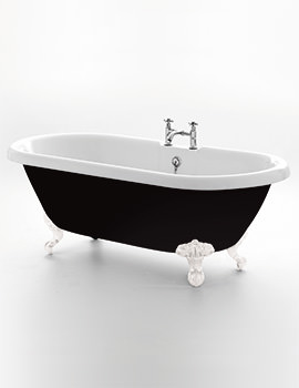 Royce Morgan Kensington Black 1755 x 785mm Traditional Freestanding Bath