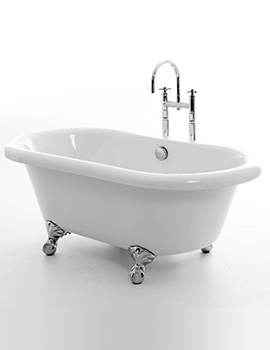 Royce Morgan Miami 1525 x 780mm Double Ended Freestanding Bath With Feet