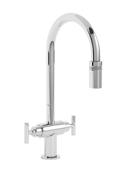 Abode Avior Contemporary Pull Out Kitchen Tap Chrome