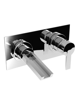 Abode Desire Wall Mounted Basin Mixer Tap Chrome