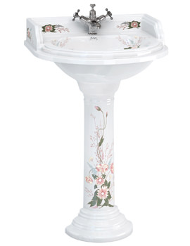 Burlington English Garden Classic 650mm Round Basin And Pedestal