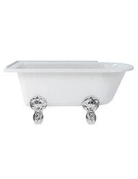 Burlington Hampton 1500 x 750mm Roll Top Showering Bath - Left Hand