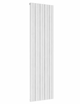 Reina Bova White Vertical Double 375 x 1800mm Aluminium Radiator