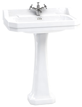 Burlington Edwardian 800mm Basin With Classic Pedestal