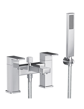 Abode Fervour Deck Mounted Bath Filler Tap With Kit Chrome