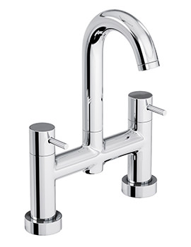 Abode Harmonie Deck Mounted Bath Filler Tap Chrome