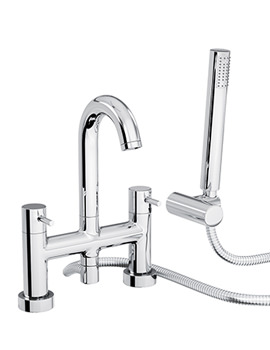 Abode Harmonie Deck Mounted Bath Shower Mixer Tap With Handset