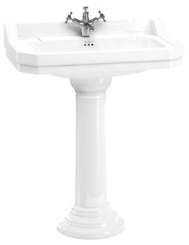 Burlington Edwardian 800mm Basin With Regal Round Pedestal