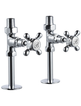 Burlington Chrome Straight Radiator Valves