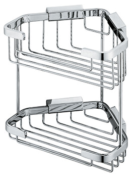 Vado Large Double Triangular Corner Basket - W 200 x D 160 x H 206mm