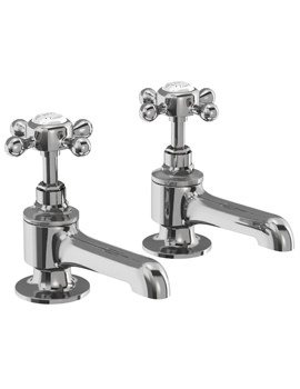 Burlington Stafford Chrome Bath Pillar Taps
