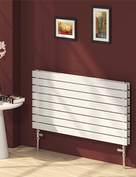 Reina Rione 1200 x 550mm White Double Panel Designer Radiator