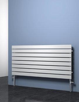 Reina Rione Horizontal Single Designer Radiator 1000 x 550mm White