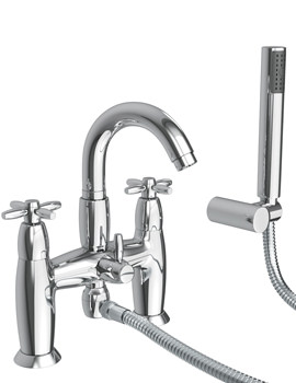 Abode Opulence Deck Mounted Bath Shower Mixer Tap With Handset Chrome