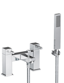 Abode Zeal Deck Mounted Chrome Bath Shower Mixer Tap With Handset