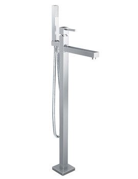 Abode Zeal Floorstanding Bath Filler Tap With Shower Handset Chrome