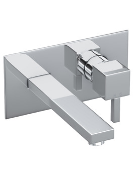 Abode Zeal Wall Mounted Basin Mixer Tap Chrome
