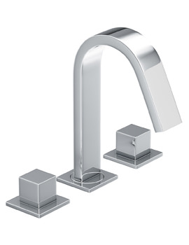 Abode Zeal Deck Mounted 3 Hole Bath Mixer Tap Chrome
