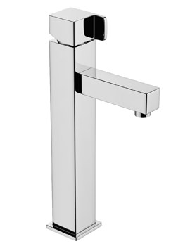 Abode Rapport Monobloc Tall Basin Mixer Tap Chrome