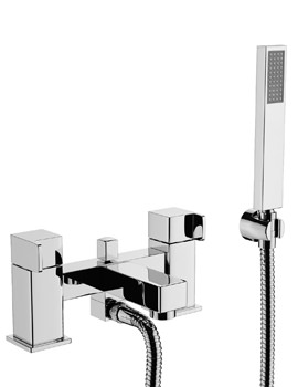 Abode Rapport Deck Mounted Bath Shower Mixer Tap With Handset