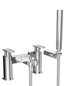 Abode Rapture Deck Mounted Bath Shower Mixer Tap with Shower Handset