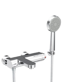 Abode Rapture Wall Mounted Bath Shower Mixer Tap With Handset