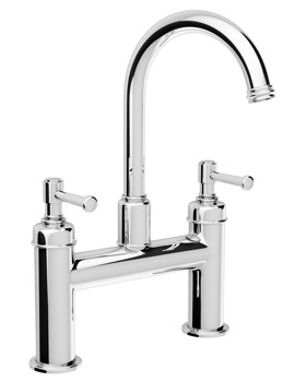 Abode Gallant Deck Mounted Bath Filler Tap Chrome