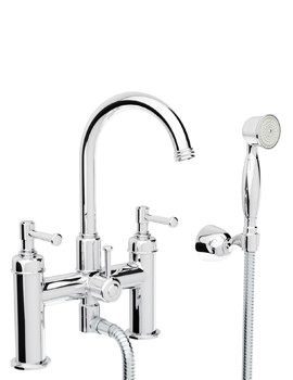 Abode Gallant Chrome Deck Mounted Bath Shower Mixer Tap With Handset