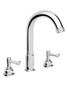 Abode Gallant Deck Mounted 3 Tap Hole Bath Filler Tap Chrome