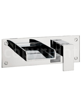Crosswater Water Square 2 Hole Set Wall Mounted Bath Filler Tap
