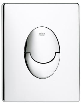 Grohe Skate Air Vertical Chrome WC Dual Flushing Wall Plate