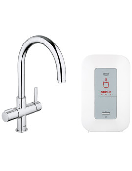Grohe Red Duo Chrome C-Spout Faucet And Single-Boiler 4 Litres