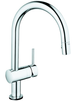 Grohe Minta Touch Electronic Single Lever Kitchen Tap With Pull Out Spray