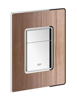 Grohe Skate Cosmopolitan Dual Flush WC Wall Plate American Walnut-Chrome