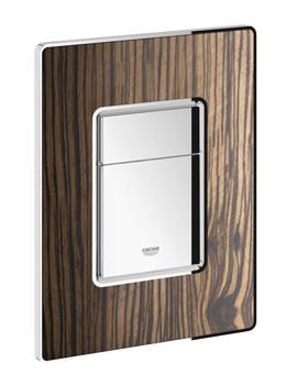 Grohe Macassar-Chrome Skate Cosmopolitan Dual Flush Actuator WC Wall Plate
